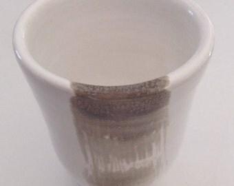 Tea or white - gray glazed coffee mug