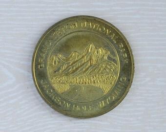 Grand Teton National Park, Jackson Hole, Wyoming Souvenir Lucky Coin Token