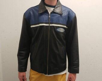 1990s Pepsi Leather Jacket Vintage Pepsi Leather Coat