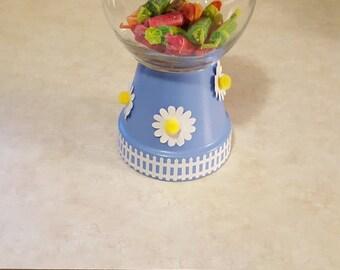 Daisy Gumball Machine Candy Dish