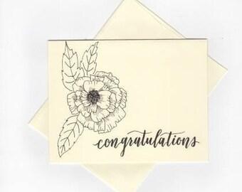 "Carnation 4.25x5.5 Card ""Congratulations"""
