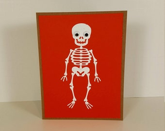 Halloween Card - Skeleton Halloween Card