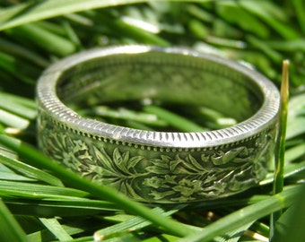 SILVER Switzerland Franc Coin Ring