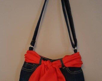 Blue Jean Skirt Purse (Stock #149)