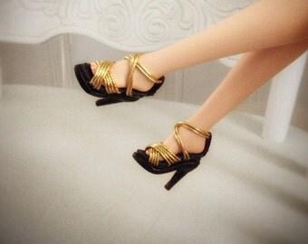 "Couture shoes for Silkstone Barbie""Naomi""SKSH09/silkstone barbie shoes,barbie shoes,12""doll shoes,1/6miniature,OOAK barbie,barbie clothing"