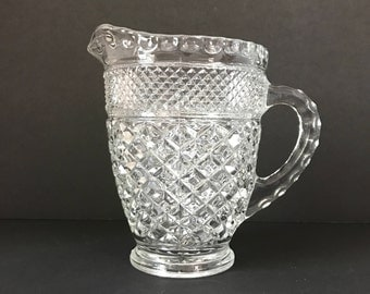 Wexford Clear Pint Pitcher - Vintage Small Pitcher - Milk Jug - Anchor Hocking Glass