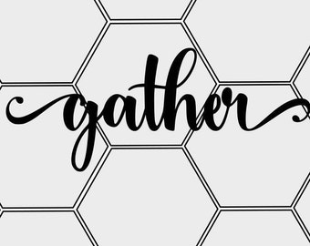 Gather SVG & PNG Cut File