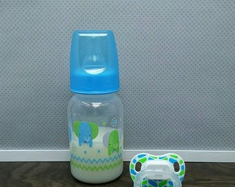Reborn Bottle and Pacifier, Magnetic Pacifier or Putty Pacifier, Sealed Reborn Bottles with Fake Milk, Reborn Babies, Ready to Ship