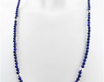 Necklace harmony lapis lazuli faceted