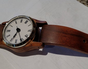 Handmade Walnut Hanging Wall Clock/ SPECIAL ORDER ONLY
