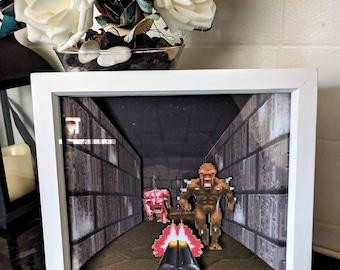 DOOM II - 3D Shadow Box Diorama (8x8)