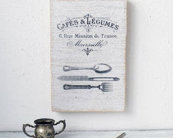 kitchen wall decor fork and spoon sign france wall decor kitchen sign