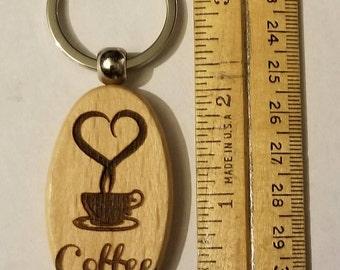 I <3 Coffee Oval  Keychain
