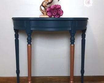 Marvelous Demi Lune, Half Moon Table, Hallway Table, Hand Painted, Painted Furniture,