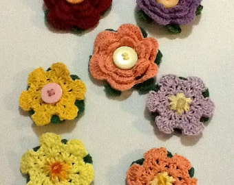 Rose and Flower Brooches