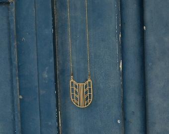 Pendant necklace filigree Art Deco