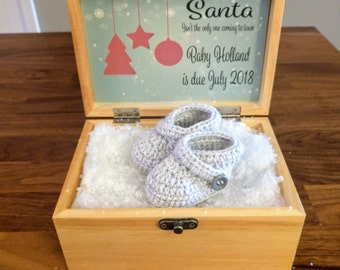 Announce pregnancy on Christmas, Pregnancy Announcement Box, Christmas, pregnancy announcement, reveal pregnancy to parents, Pregnancy box,