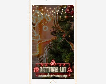 Christmas Snapchat Geofilter, Custom Snapchat Geofilter, Snapchat Geofilter Christmas, Xmas Snapchat Filter, Personalized Holiday Filter