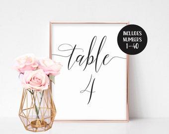 Wedding Table Numbers Printable, Table Numbers Wedding, Instant Download, Table Number Cards, Printable Table Numbers, Template, Vintage DIY