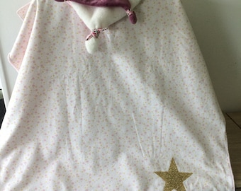 customizable baby cotton and minkee blanket
