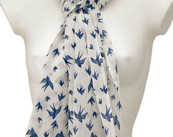 Stunning, fair trade bird print scarf