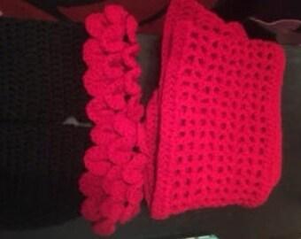 Crochet gloves and ScarfSet