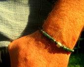 BRACELET Homme personnalisé, Bracelet homme pierre Hématite Verte/Bleu, Onyx Noir, BRACELET Homme perles zodiaque argent, cadeau homme Noel
