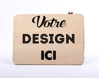 Custom iPad Mini / Tablet / iPad Pro - cover/sleeve - maple wood with - 100% Made in France - customizable