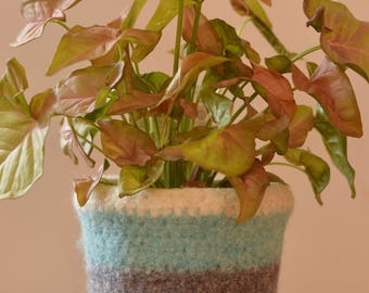 Felted Wool Planter-large