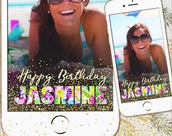 Birthday filter, Snapchat Geofilter, Birthday snapchat, Snapchat Birthday, Birthday party filter, Bachelorette filter, Birthday party