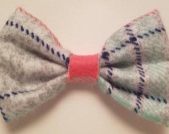 Plaid Fleece Hair Bow