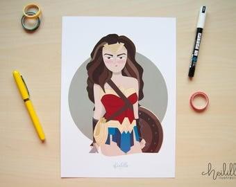 Wonderwoman print