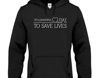 Its a beautiful day to save lives hoodie, greys anatomy hoodie, greys anatomy gifts, derek shepherd, hoodie, grey's anatomy, Mcdreamy