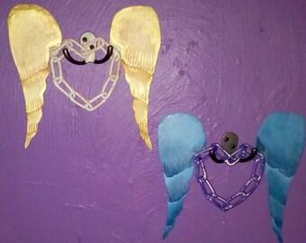 Wings of Love chainlink wall art