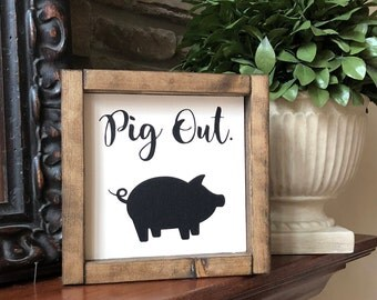 Pig Decor Etsy
