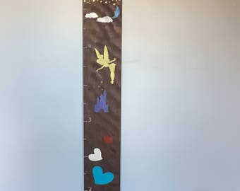 Personalized Growth Chart Ruler, Height Chart, Height Ruler, Dark Wood Sign, Nursery Sign, Baby Shower Gift, Personalized Sign