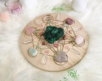 20cm Broken Heart Healing Complete Set of Crystal Grid