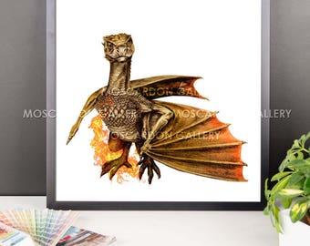 Viserion (Game of Thrones) Framed Art