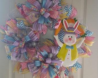 Easter wreath, easter decor. bunny wreath, spring wreath, easter,