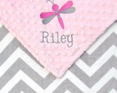 Lovie Baby Blanket, Monogram Mini Blanket for Babies, Comfort for Toddler, Security Blanket Personalized Name, Lovey for Baby Boy, 18x18
