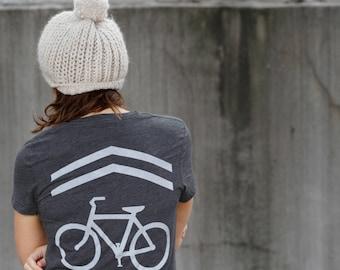 Womens Bike Shirt, Cycling Tshirt, Travel Gift, Outdoor Gift for Her, Bicycle Shirt, BLACKBIRDSUPPLY SALE, Clothing Gift, Womens Graphic Tee