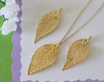 Gold Evergreen Leaf Necklace, Real Leaf Necklace, Evergreen Leaf, Gold Leaf Necklace, Long Leaf, Leaf Pendant LC228
