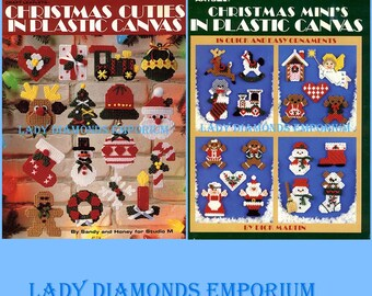 U-Pick ~ Plastic Canvas Christmas Mini's, Christmas Cuties, Looks Like Christmas, Snowflakes, Lots More Cuties, Teeny Christmas Ornaments