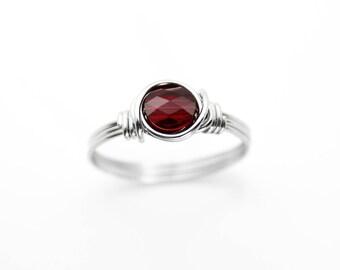 Lila schwarzen Ring Draht gewickelt Ring lila Schmuck