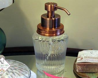 Vintage Kilner Mason Jar Foaming Soap Dispenser | Solid Copper Rust Proof Soap Dispenser | Kilner Preserve Jar | Rust Resistant |  Dish Soap