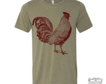 Mens Urban ROOSTER T-Shirt s m l xl xxl (+ Color Options) zen threads hand screen printed