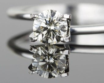 0.54 carat Loose Diamond - Ideal Cut - 5.23mm Round VS2 K - Natural White Diamond - Purchase Loose or Customize - Hearts and Arrows