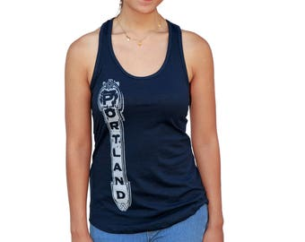 Portland Sign  Racerback tank top Arlene Schnitzer Concert hall  Gift for her  Travel tees  Portland OR  size XS - XXL  Iconic sign.