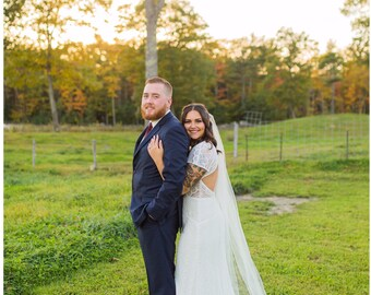 Wedding Veil, Cathedral Veil, Bridal Veil, Chapel Veil, Long Veil, Chapel Veil, Floor Length Veil, Chapel Veil, Bridal Illusion Veil