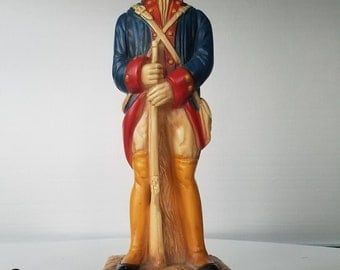 Chalkware 1960 Soldier Lamp